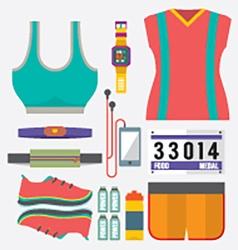 Top View Runner Gears vector image vector image