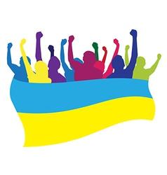 Ukraine fans vector image vector image
