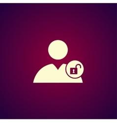 User icon lock icon vector image vector image