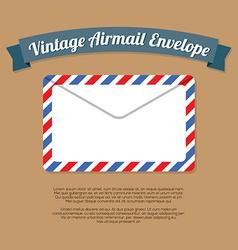 Vintage mail envelope vector