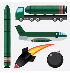 Bombs and missiles vector