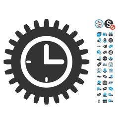 Time options icon with free bonus vector