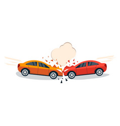car accident comic style vector image