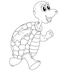 animal outline for turtle vector image