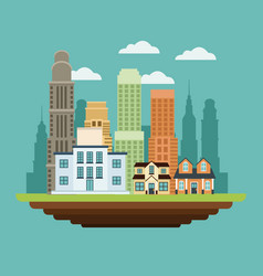 Building college home residential buildings vector