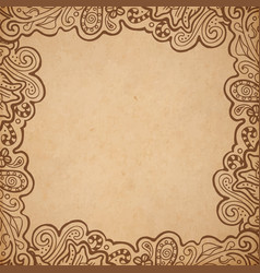 Background floral frame vector