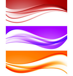 Abstract bright waves collection vector
