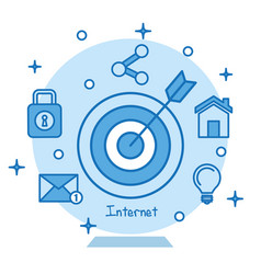 Target icon concentric aiming marketing business vector