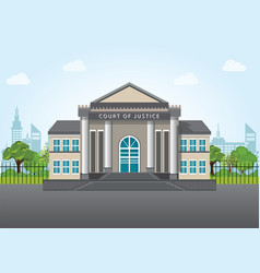 Modern court building vector