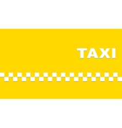 Yellow business card with taxi vector