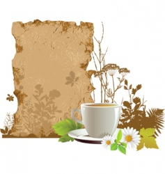Cup with tea vector