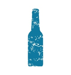 Bottle grunge icon vector