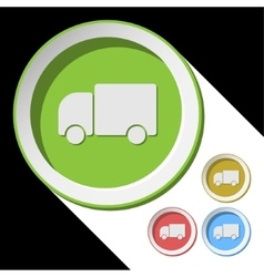 Color icons with lorry car vector