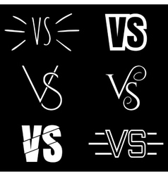 Versus letters logo white v and s symbols vector