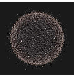 3d abstract spheres concept for science vector