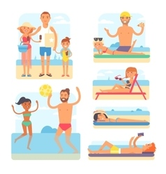 Beach people vector