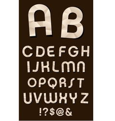 Craft Font vector image