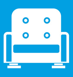 Armchair icon white vector