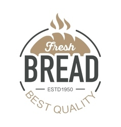 Bakery badge and bread logo icon modern style vector