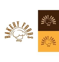 Bakery shop emblem or label vector