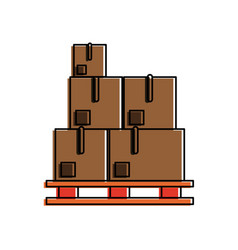 boxes on stowage vector image