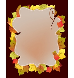 Card with autumn leaf vector image vector image