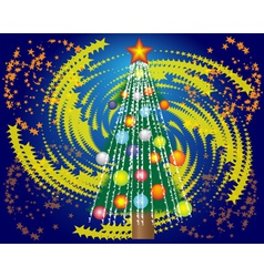 Christmas tree and a star vector image