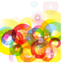 circle colorful background vector image vector image