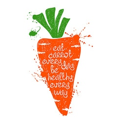 Colorful Of Isolated Carrot Silhouette vector image vector image