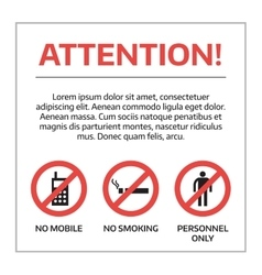 Danger warning attention sign vector image vector image