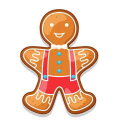 Gingerbread cookies man of merry vector