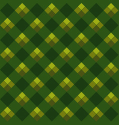 green argyle seamless pattern vector image vector image