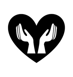 Healthy heart symbol isolated icon design vector image