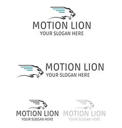 Motion lion logo design vector