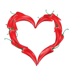 paprika in the form of hearteps 10 vector image