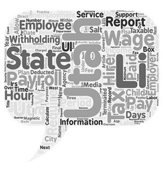 Payroll utah unique aspects of utah payroll law vector