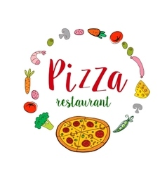 Pizza restaurant banner vector image