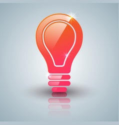 red bulb icon with white background vector image