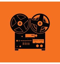 Reel tape recorder icon vector