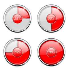 round loading progress icon with percent vector image