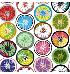 Seamless pattern wheels vector image vector image