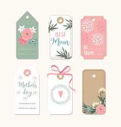 Set of romantic mothers day birthday or wedding vector