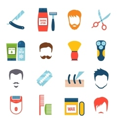 Shaving Icons Set vector image vector image