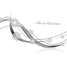 Silver metal abstract Christmas background vector image