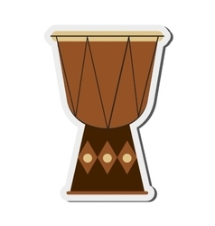 Single djembe icon vector