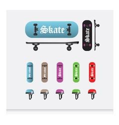 Skateboard set vector image vector image