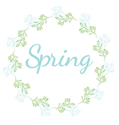 Spring floral wreath vector