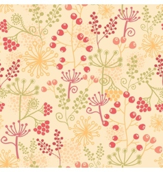 Summer berries seamless pattern background vector image vector image