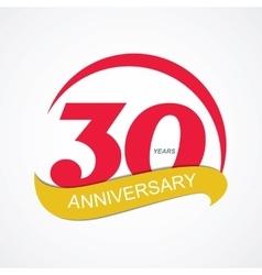 Template Logo 30 Anniversary vector image vector image