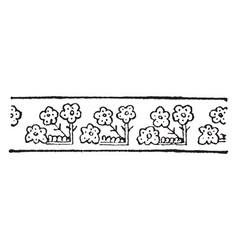 turkish design have floral border design vintage vector image vector image
